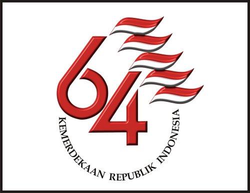Logo HUT ke-64 Kemerdekaan RI