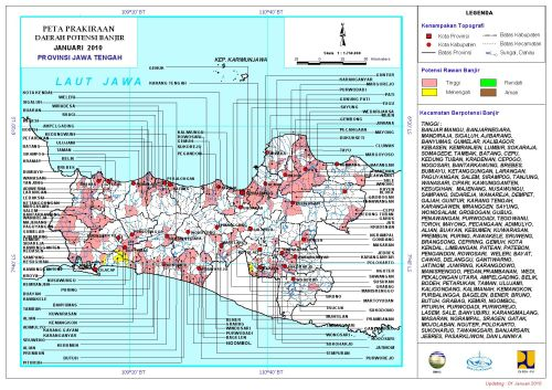 Peta Potensi Banjir Jateng Januari