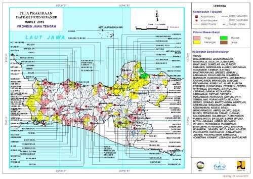 Peta Potensi Banjir Jateng Maret